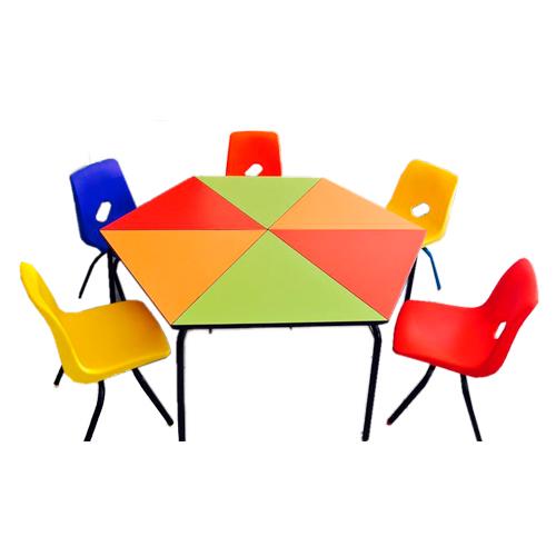 mesa-preescolar-hexagonal